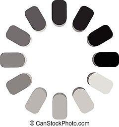 Segmented preloader, buffer shape or progress indicator