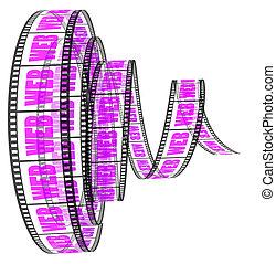 segmento, parola, film, web