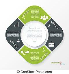 segments., concept, business, infographic, conception, 4, ...