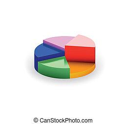segments., vektor, diagramme