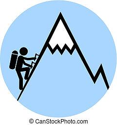 segnale, arrampicarsi