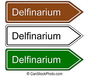 segnale direzione, dolphinarium