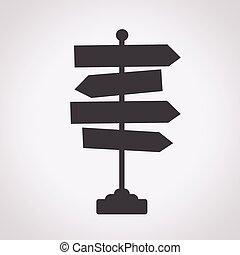 segnale direzione, strada, icona