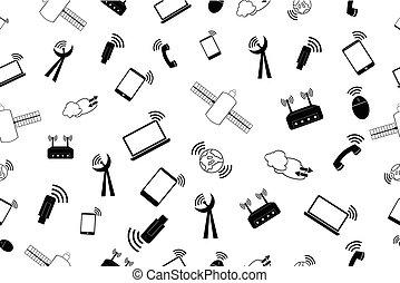 segnale, fondo, telecomunication