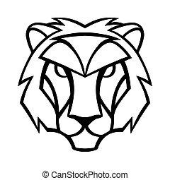 segnale oroscopo, simbolo., leo, nero, zodiaco