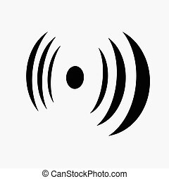 segnale, silhouette, antenna