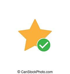 segnalibro, favorito, aggiungere, stella, icona