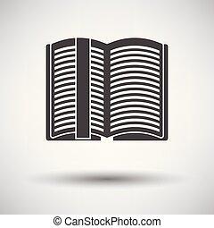 segnalibro, libro, aperto, icona