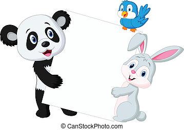 segno bianco, animale, cartone animato