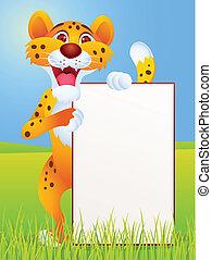 segno bianco, ghepardo, cartone animato