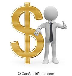 segno dollaro, affari