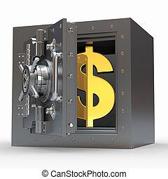 segno dollaro, vault., 3d