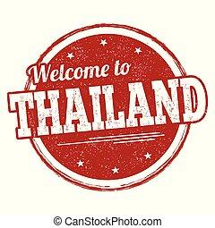 segno, francobollo, o, benvenuto, tailandia