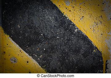 segno giallo, avvertimento, sfondo nero, traffico