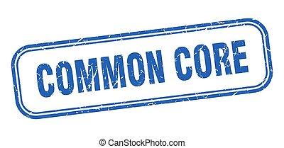 segno, grunge, quadrato, centro, blu, comune, stamp.