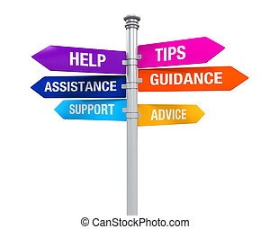 segno, indicazione, sostegno, aiuto, punte