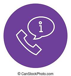 segno, informazioni, icona, linea, microtelefono