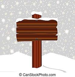 segno, inverno legno, vuoto, neve