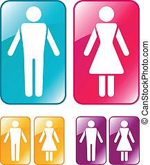 segno., maschio, wc, femmina