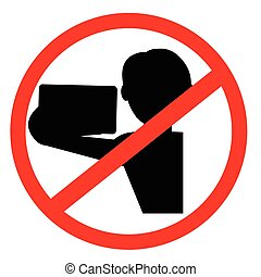 segno, no, selfi