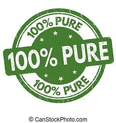 segno, o, francobollo, puro, 100%