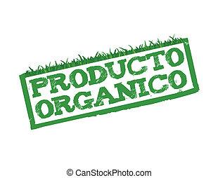 segno, organico, prodotto, spagnolo