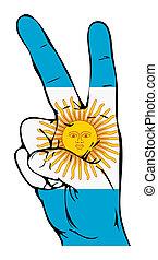 segno pace, di, il, argentinean indica