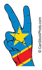 segno pace, di, il, bandiera congo