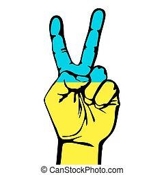 segno pace, di, il, bandiera ucraina