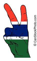 segno pace, di, il, gambian, bandiera