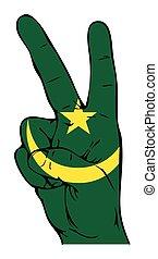 segno pace, di, il, moresco, bandiera