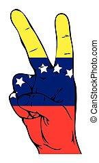 segno pace, di, il, segnalatore venezuelano