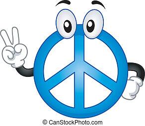 segno pace, mascotte