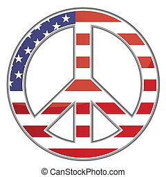 segno pace, /, stati uniti, /, vettore