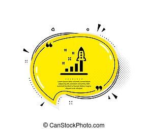 segno., piano, lancio, avvio, vettore, icon., sviluppo, affari