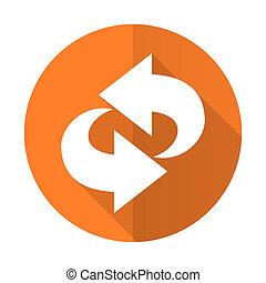 segno, rinfrescare, arancia, rotazione, icona, appartamento