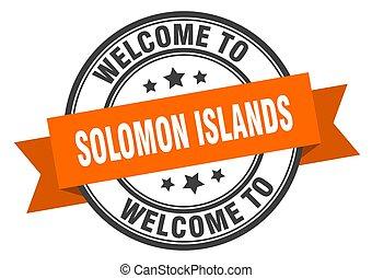 segno, solomon, benvenuto, stamp., arancia, isole