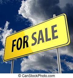 segno strada, con, parole, vendita