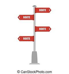segno strada, direzione