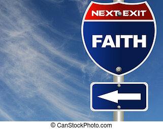 segno strada, fede