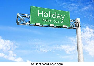 segno strada principale, -, vacanza