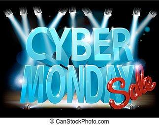 segno vendita, cyber, lunedì, palcoscenico