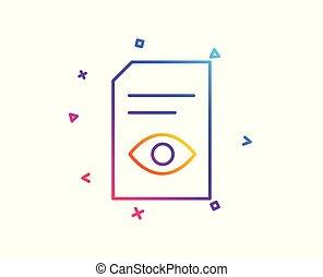 segno., vettore, file, linea, documento, aperto, icon., vista
