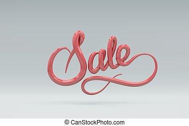 segno., vettore, lettering., vendita, 3d