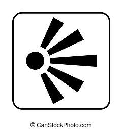 segno, vista, illustrazione, punto