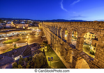 Segovia, Spain Aqueduct - Segovia, Spain at the ancient...