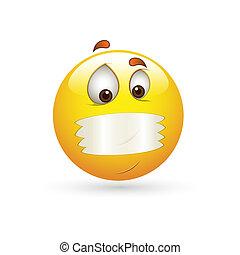 segredo, smiley, emoticons, rosto, vetorial