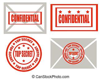 segredo superior, -stamps