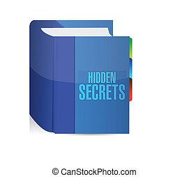 segredos, escondido, livro, desenho, ilustração