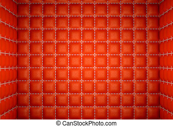segregation or Isolation: Red stitched leather mattresses
